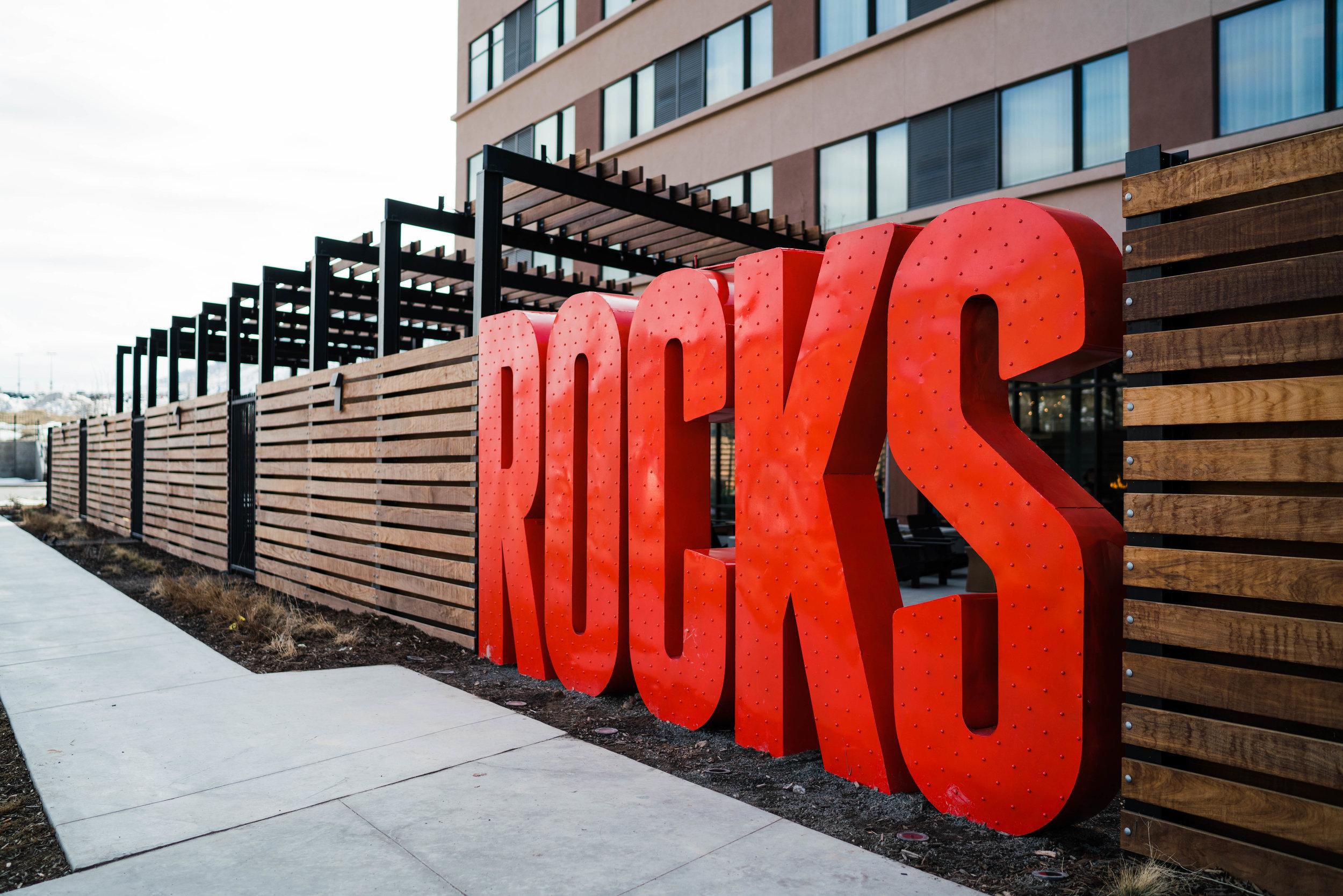 denver commercial photographer tim gillies photography origin hotel red rocks outside sign