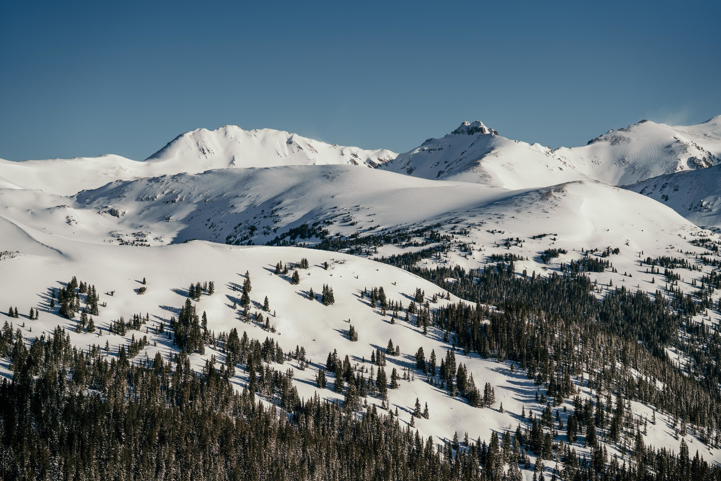 View from the top of Loveland Pass