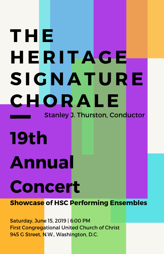 8.5 x 5.5 Program Book Designed for the HSC 19th Annual Concert -