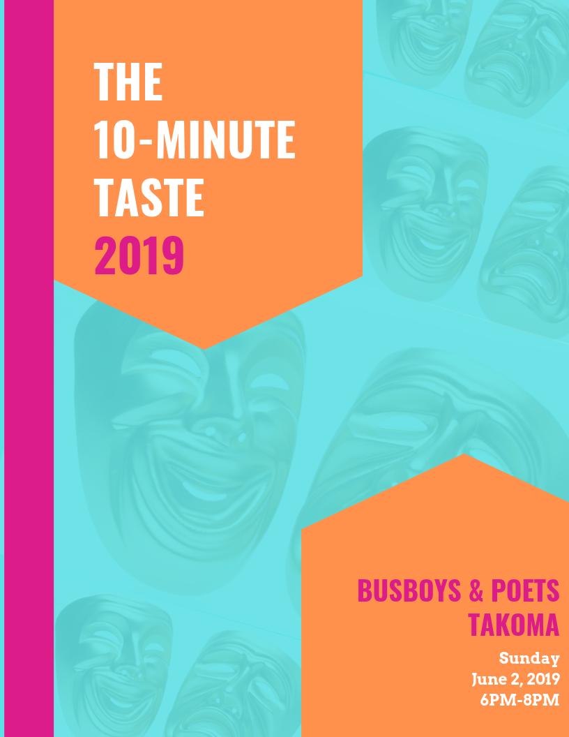 8.5 x 11 Program Book Designed for The 10-Minute Taste 2019 -