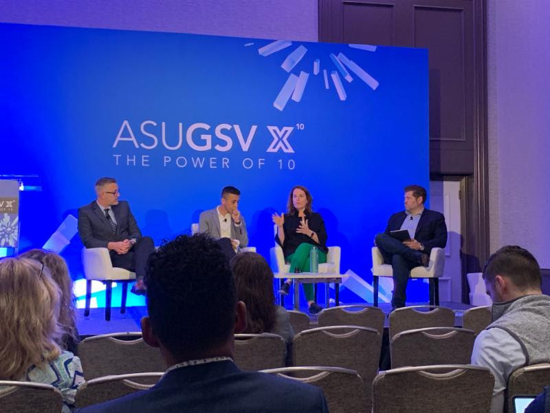 YouthForce NOLA President Cate Swinburn speaks about the future of work at ASU-GSV