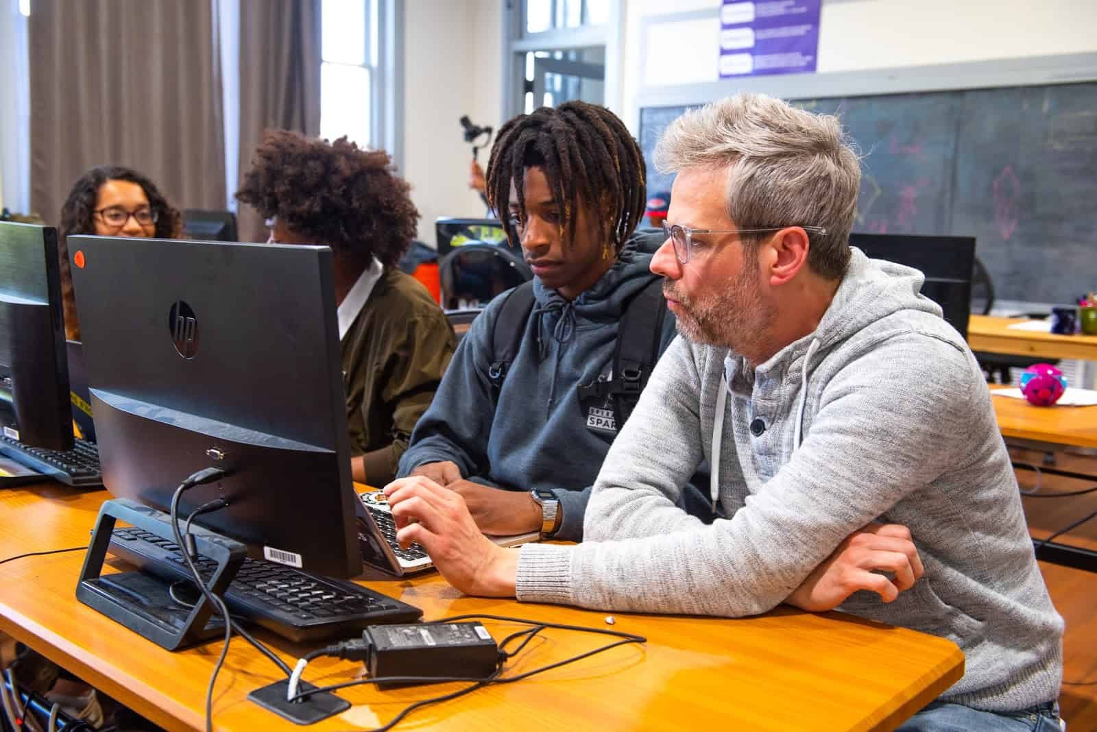 Students develop advanced software development skills at    Operation Spark   , a third-party training provider founded by a veteran software engineer.