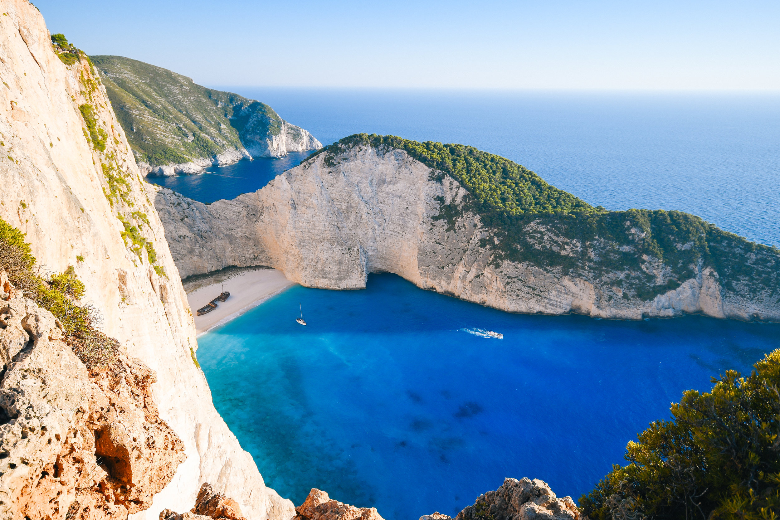 "Zakynthos - The ""flower of the east"" as the Italians would call it. Green embraced by blue. A seaside village where white beaches, high stone cliffs, and turquoise waters transport you to immortality."