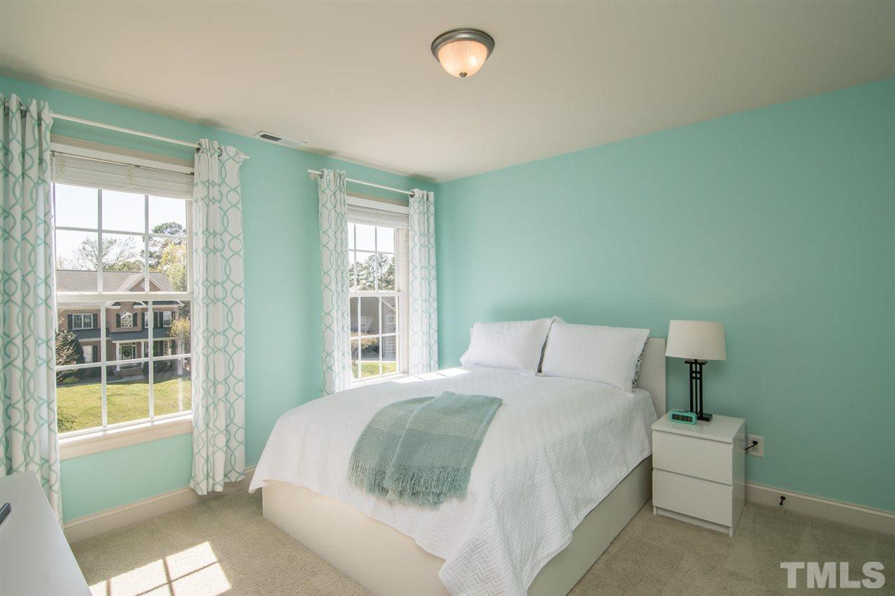 Bedroom in Raleigh, NC by professional home staging company UpStaging Designs
