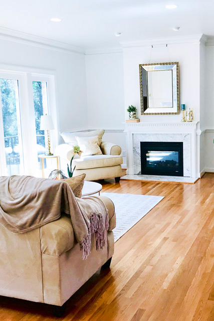 Living room in Raleigh NC gets consultation for staging and renovation by UpStaging Designs