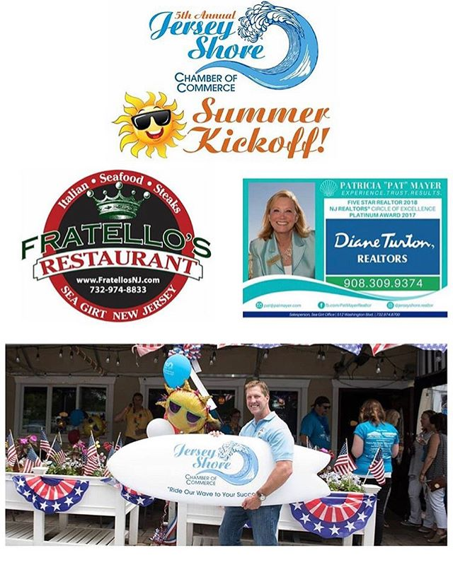 So excited to be sponsoring stop #2 @fratellosrestaurant for #JSCCSummerKickoff 2019! #MDW HERE WE COME 🇺🇸 #SummerReady #jerseyshore #patmayer
