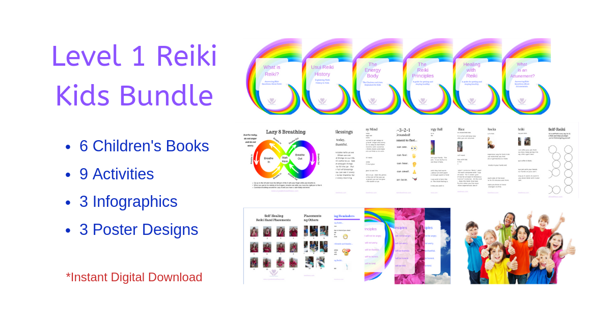 Teach Kids Reiki! - Use the Level 1 Reiki Kids Bundle to teach Reiki to kids. Check out our special summer pricing!