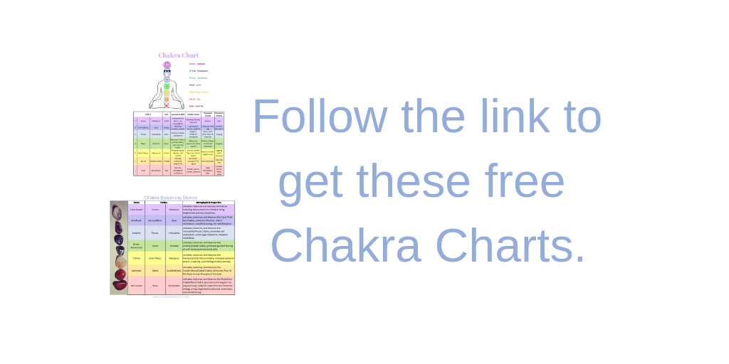 Chakra Charts - Sign up for my mailing list and get these charts as a thank you gift. Your support is appreciated.