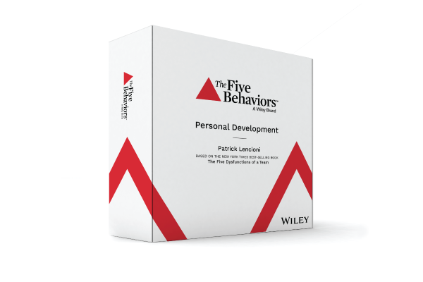 The 5 Behaviors Personal Development™   Personal Development was designed specifically to work for individuals; participants do not all need to be part of the same team. Rather, participants can carry the takeaways of this program from one team to the next, enabling a culture of teamwork. Learners at all levels of an organization can benefit from this program and adopt its powerful principles, shape behaviors, and create a common language that empowers people to rewrite what it means to work together