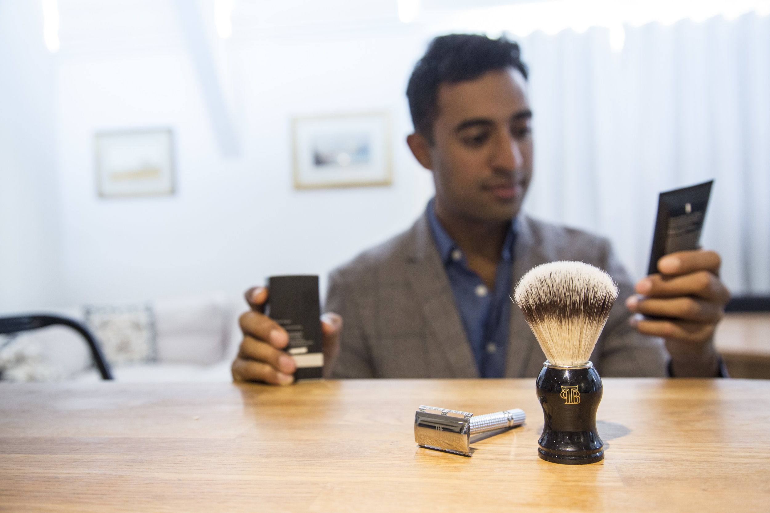 A lovely wet shave experience by The Personal Barber