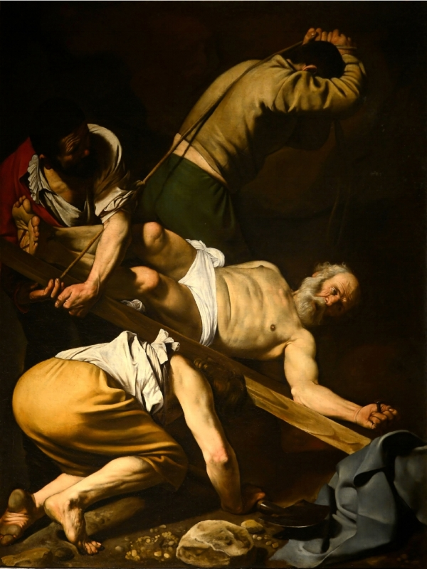 The Crucifixion of St. Peter, Caravaggio, Public Domain