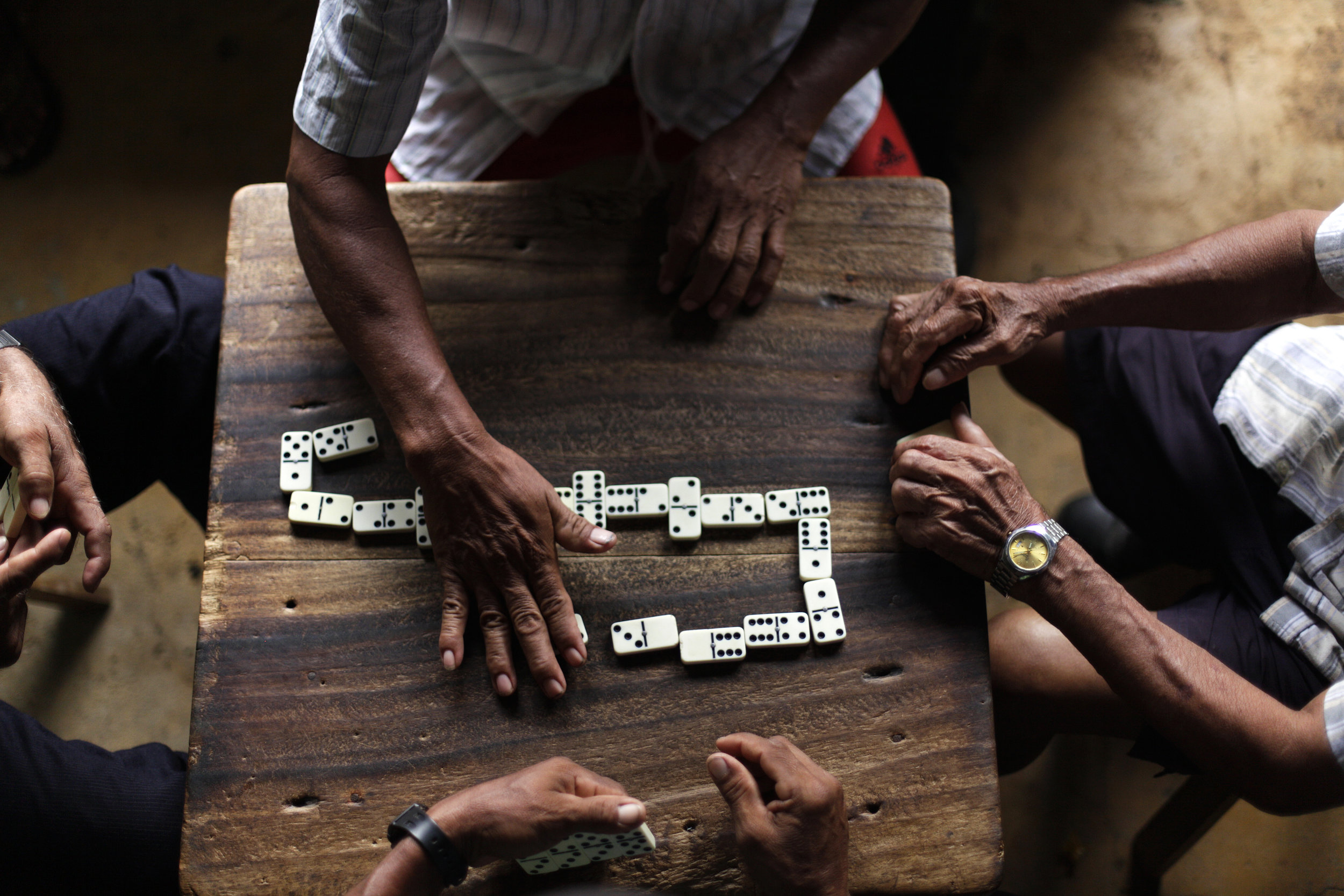 Elders of Matambú play dominos on May. 14, 2011 next to the only convenience store in the town. Matambú, one of the 22 Indian Reservations of Costa Rica, was created on June 26th, 1976. It is the home to the Chorotegas, who are the indigenous group of the Guanacaste region.