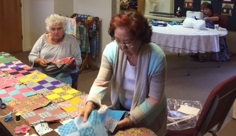 quilts in the making