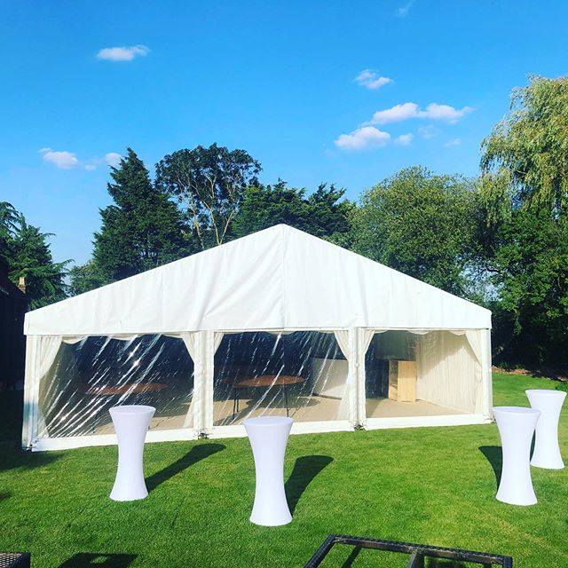 A wedding marquee for this beautiful bank holiday weekend for a lovely couple! All ready for the finishing touches.  Contact us now for your next event - Link in bio . . . #StatusMarquees #Marquee #MarqueeHire #MarqueePhotos #Essex #Hertfordshire #Kent #London #Epping #Wedding #WeddingMarquee #WeddingPhotos #Summer #Events #EventPlanner #EventSolutions #EventProfs #VenueDecoration