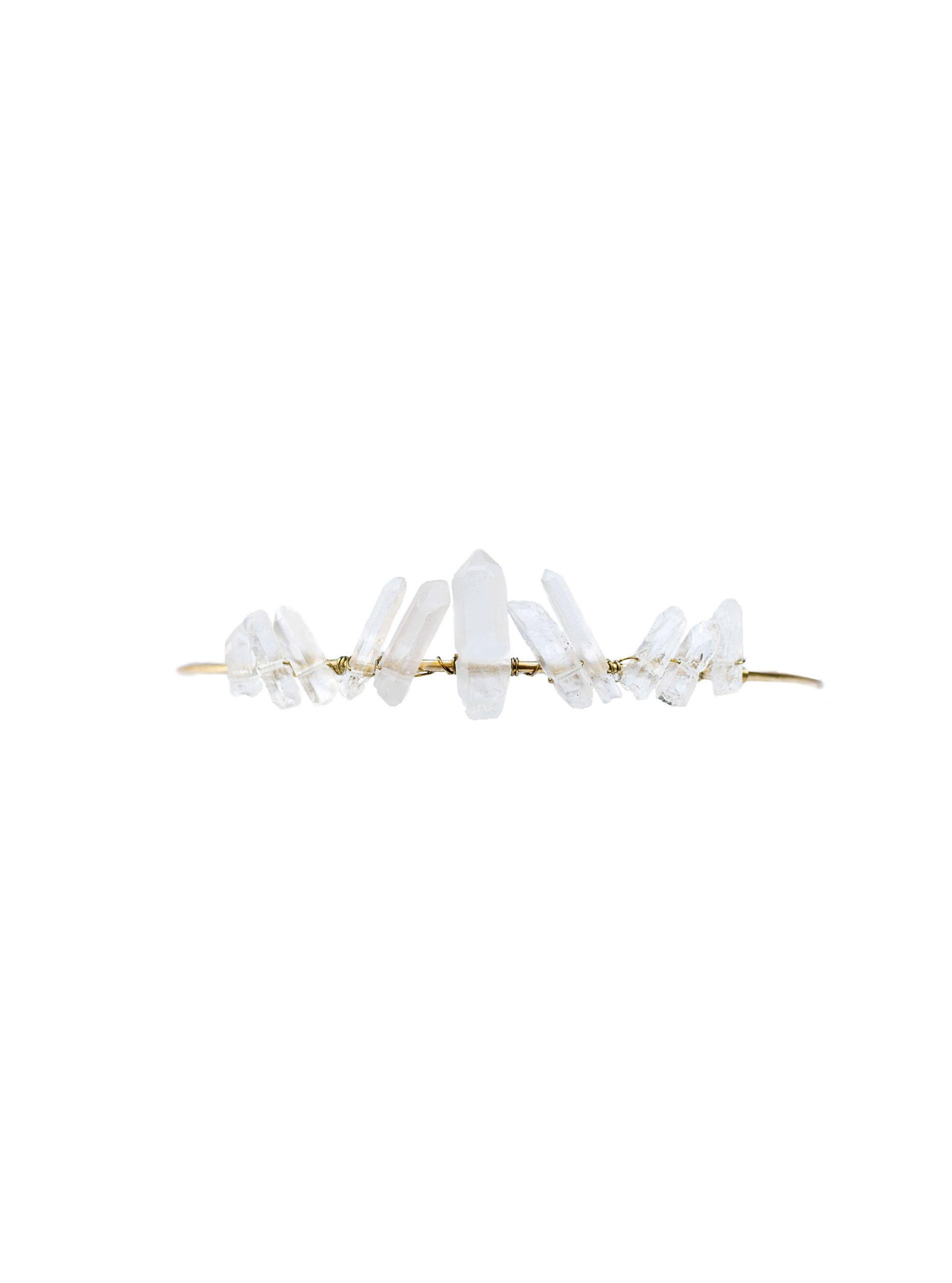Tiny Quartz Crystal Tiara