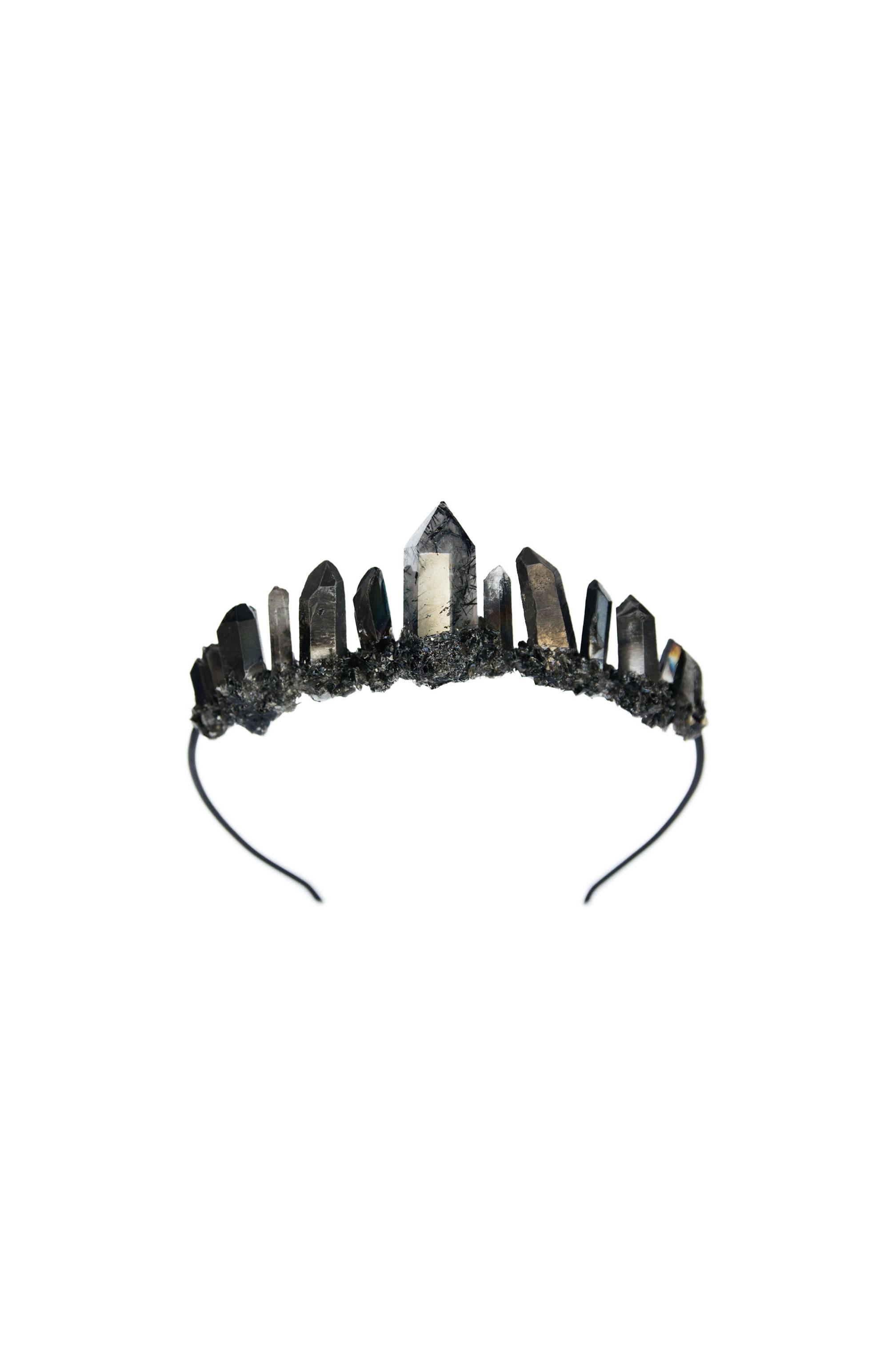 Black Quartz Tourmaline Crown