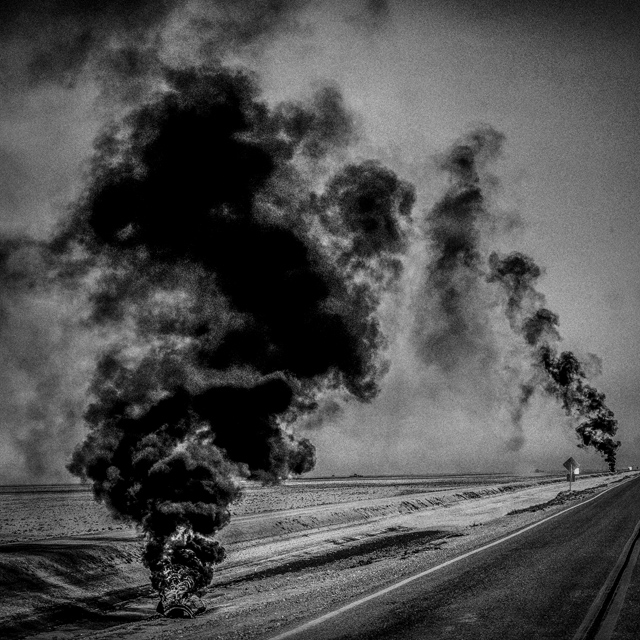 Corcoran, CA. Burning tires. Corcoran is a city in Kings County, California. The population is 24,813 and 28% live below the poverty level.