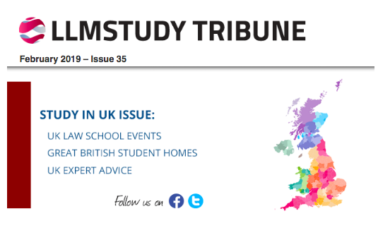 """ - The UK issue of the Tribune provided great information and advice on studying an LLM in the United Kingdom – now I can't wait to start my course!Sheenal Khan, LLM Student"