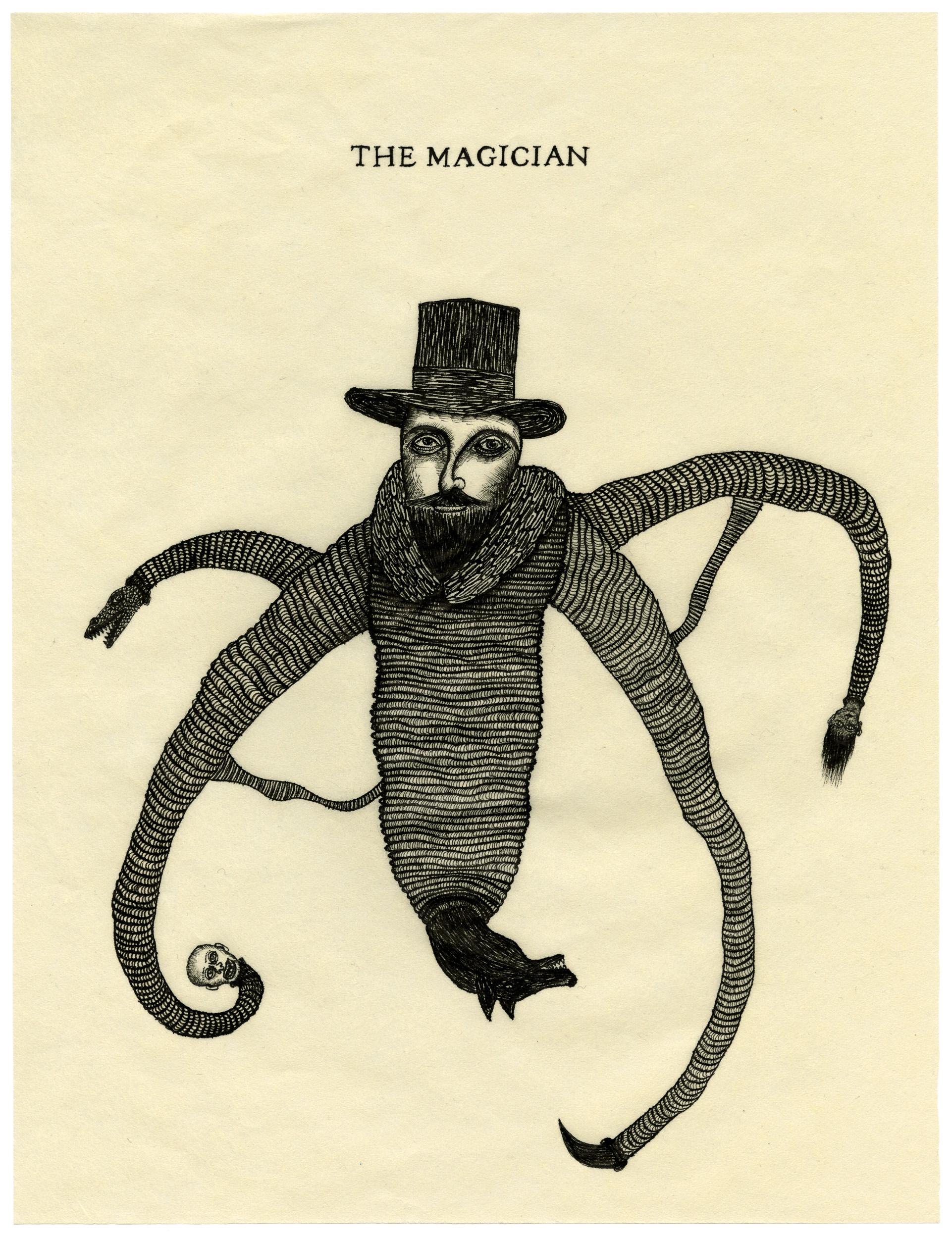 THE MAGICIAN, 32x24 cm