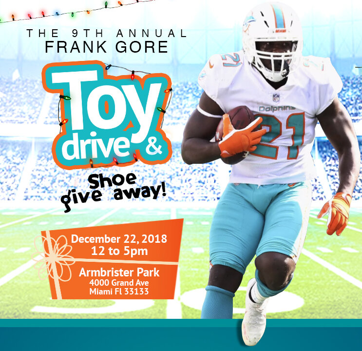 Frank Gore Toy Drive - newsletter