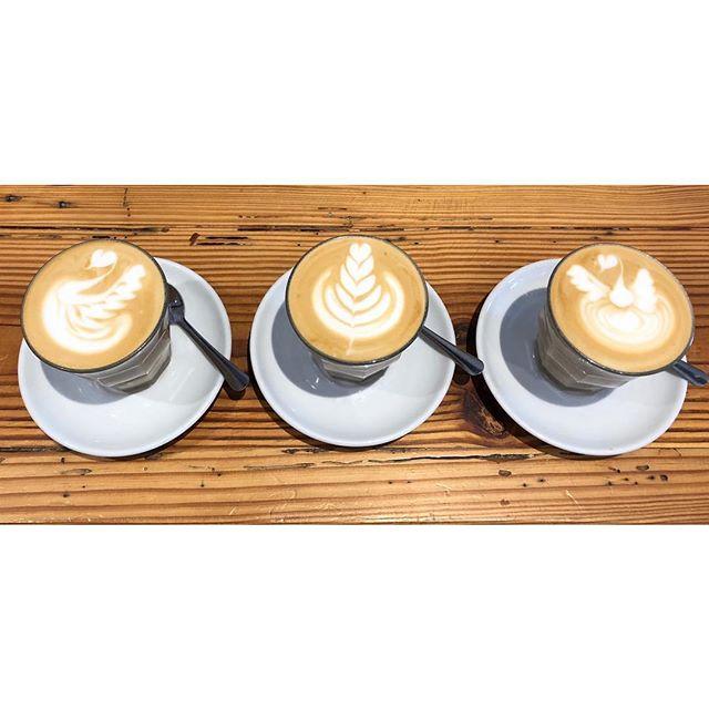 Deco @threefoldcafe . . #miamispecialtycoffee #miami #allapattah #wynwood #miamicoffee #coffee #espresso #specialtycoffee #decocoffee #decocoffeeco #bestofmiami #thirdwave #coralgables #latteart #latte #latteheart #latteswan #lattepheonix