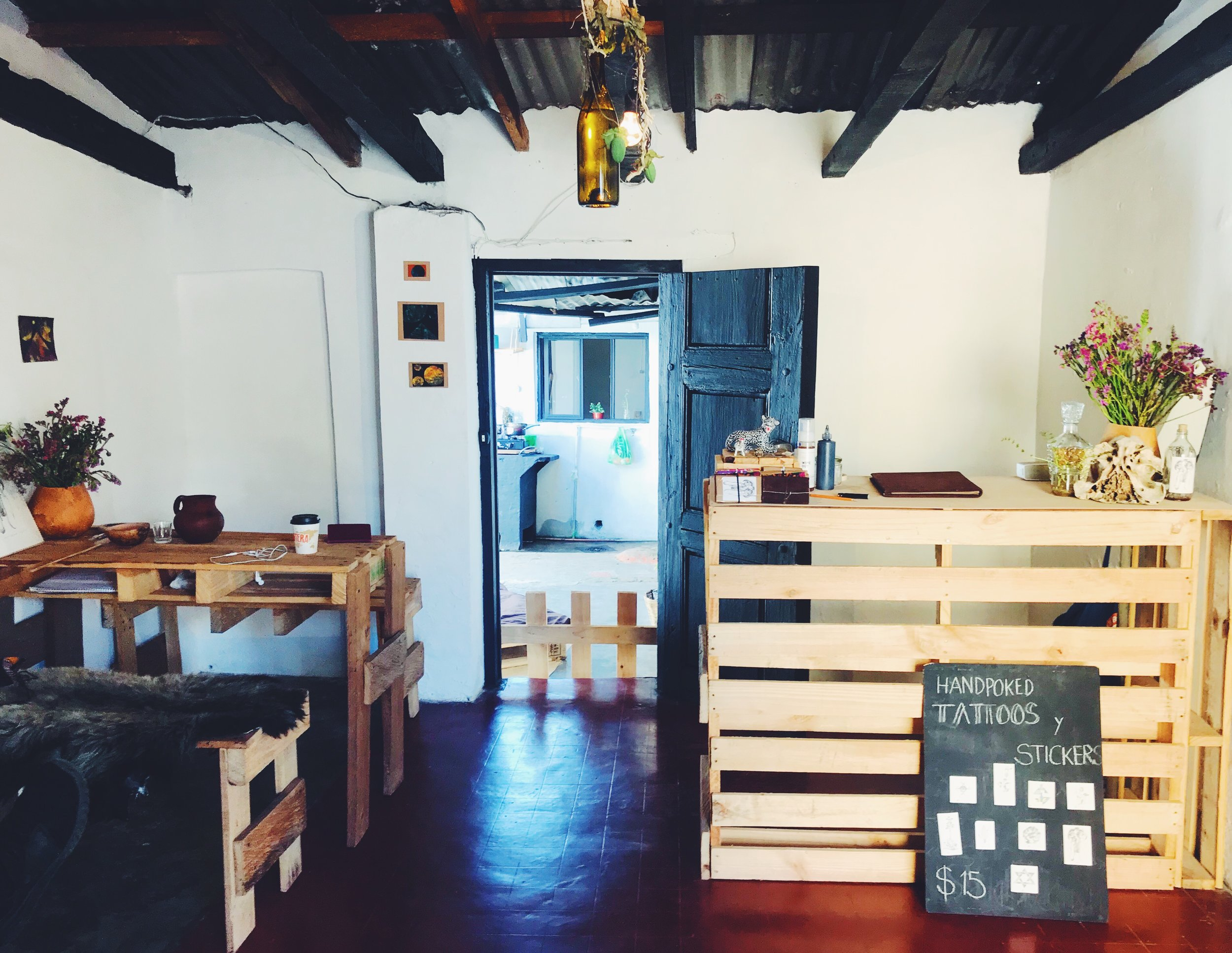 Jenny's tattoo studio in San Cristobal de Las Casas, Mexico