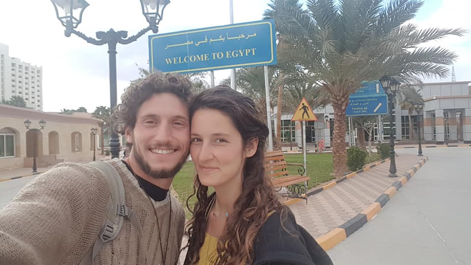 Chaja and her partner on a recent trip to Egypt
