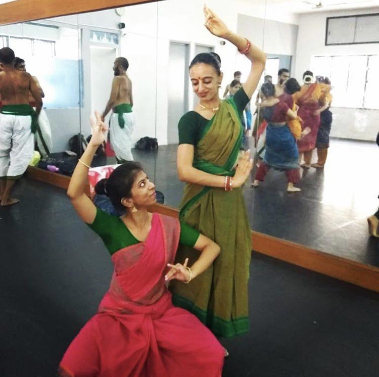 Ankita at her dance school in Bangalore, India