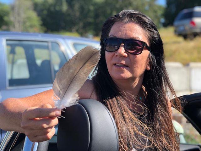 #LeavesAwaken #MarieClements eagle feather, Lummi Nation