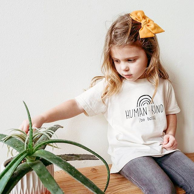 💥💥 Our Human Kind tee has been restocked in store and on our website! 💥💥 Up to sizes 6t  Get yours before it's gone again! . . . . . . . . . . . . . . . . #shoplocallabel #humankind #tenthandpine #fortworth #graphic #dfw #baby #smallstyle #kind