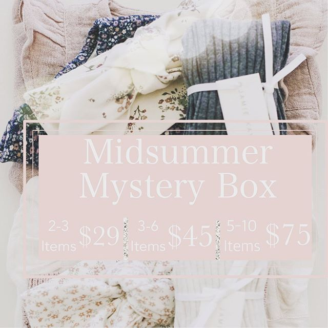 MIDSUMMER MYSTERY BOX! Choose your number of items and size and we will ship it to you or use the code LOCALPICKUP for in store pick up! Items in grab bag are not available for exchange. https://www.locallabelftw.com/lastchance . . . . . . . . . . . . . . . . . . . . . . #shoplocallabel #mystery #grabbag #baby #midsummer #fortworth
