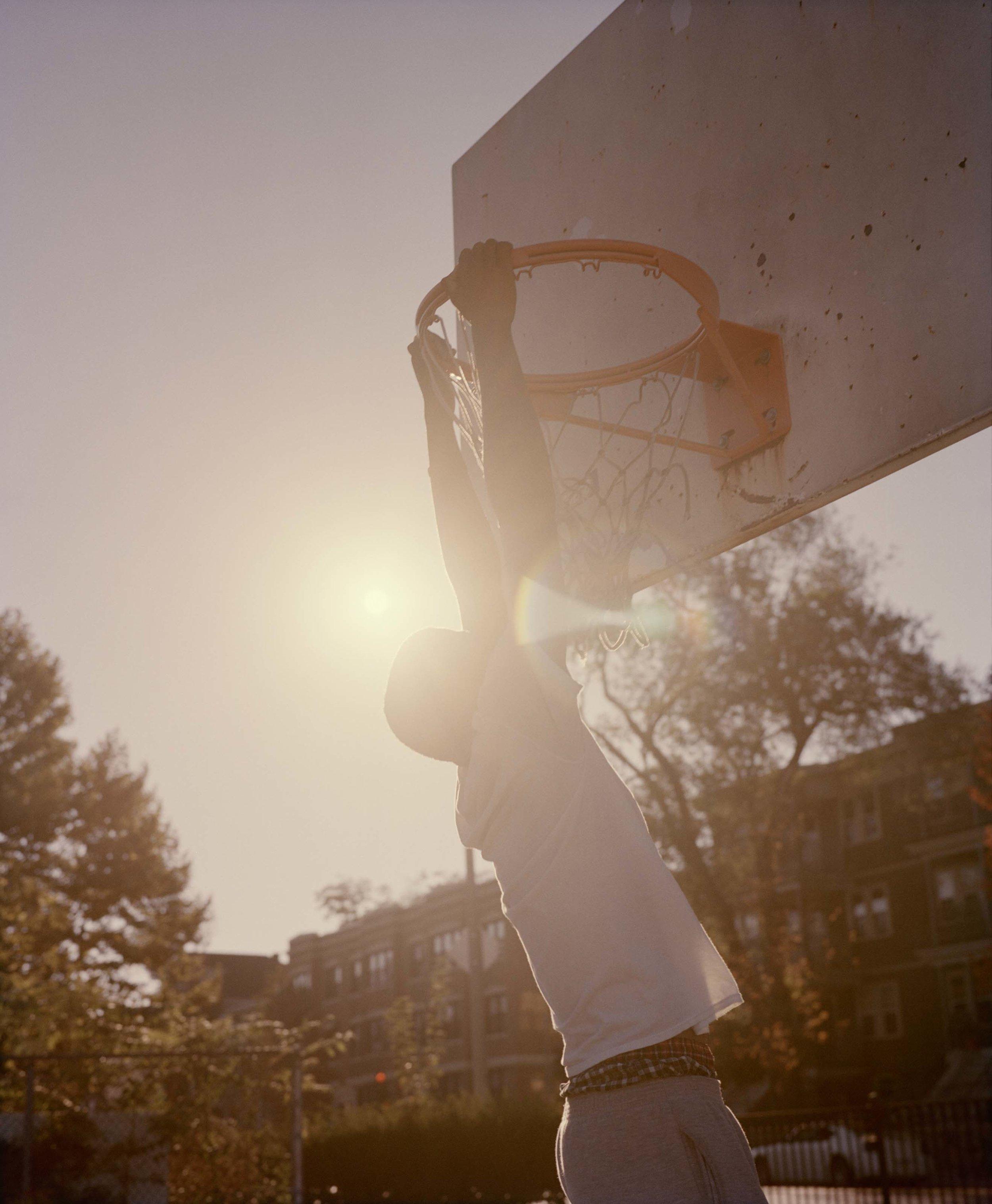 Enrique Playing Basketball, Mattapan, MA, 2014