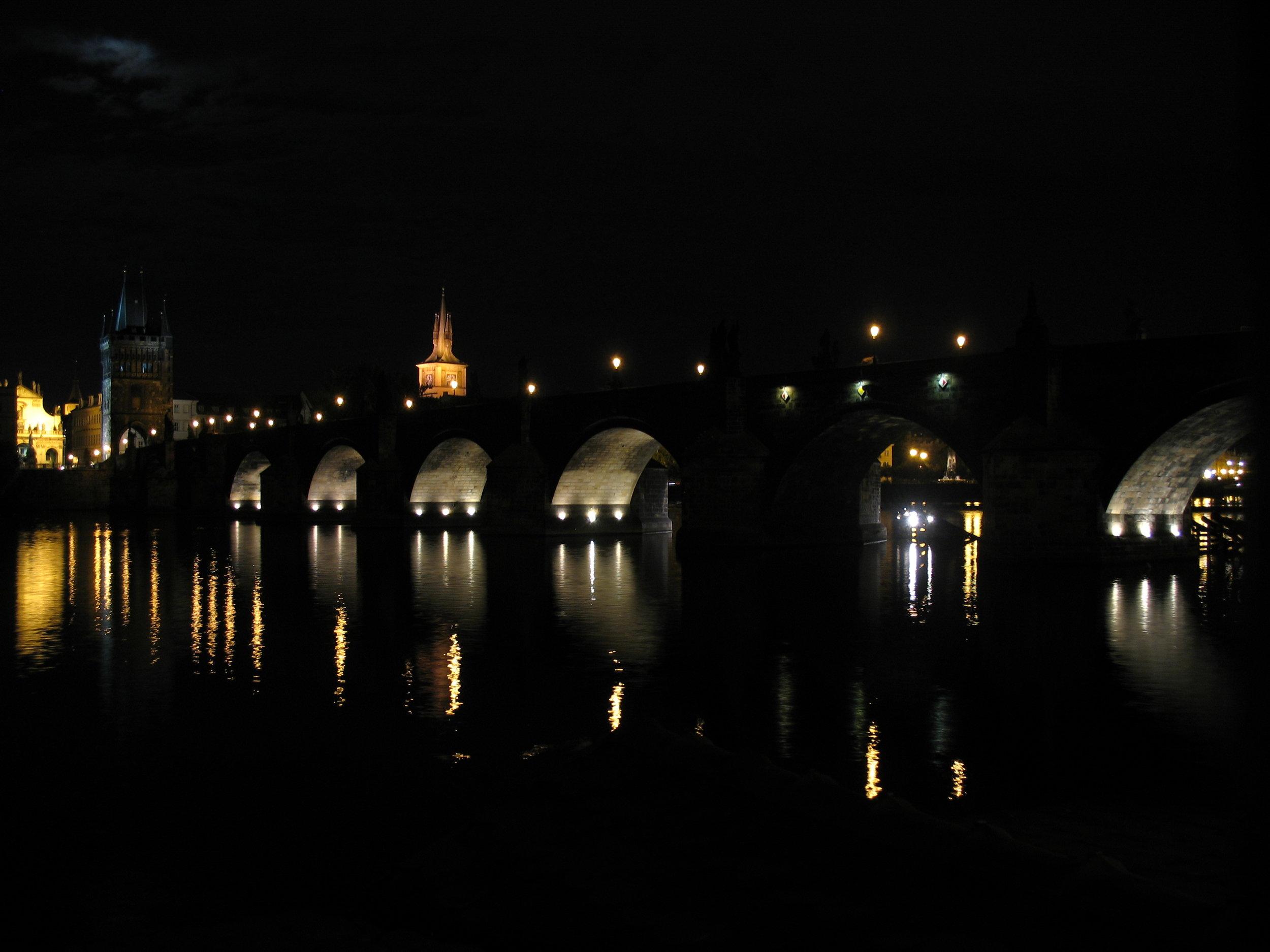 Prague - Pont Saint Charles, le 23 juillet 2008