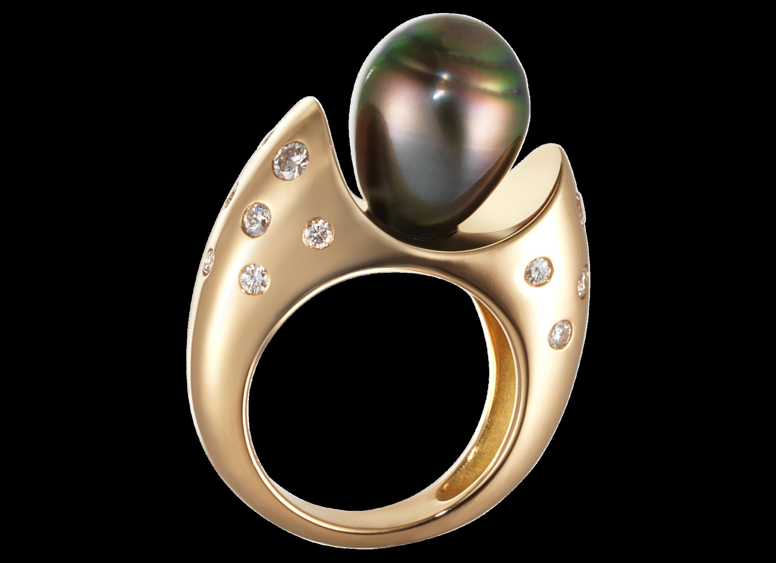 Bague Hémisphère or rouge perle de Tahiti et pavage diamants 0,67 carat.png