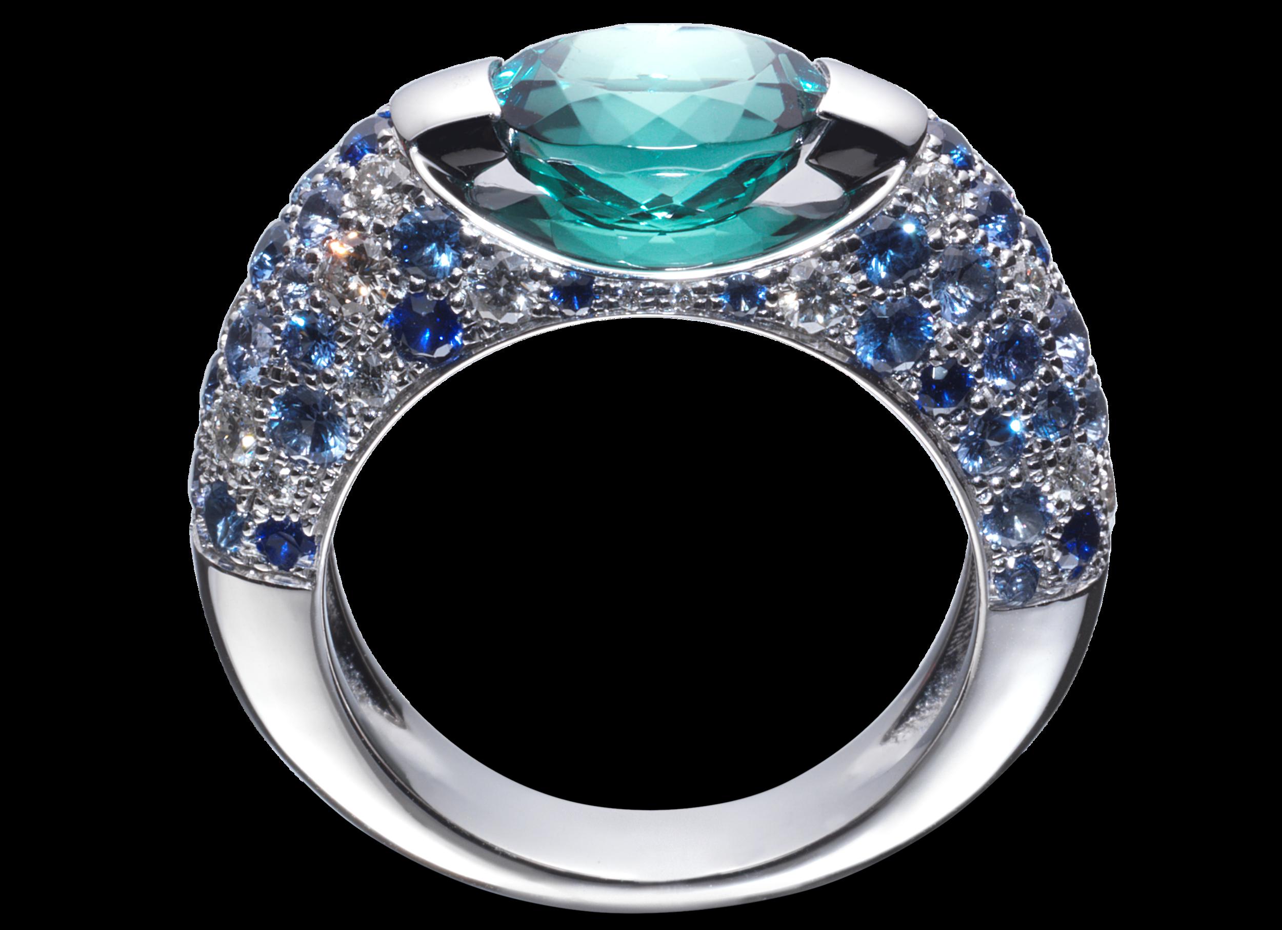Bague Eolia or blanc Indigolite 2,24 carats et pavage diamants et saphirs.png