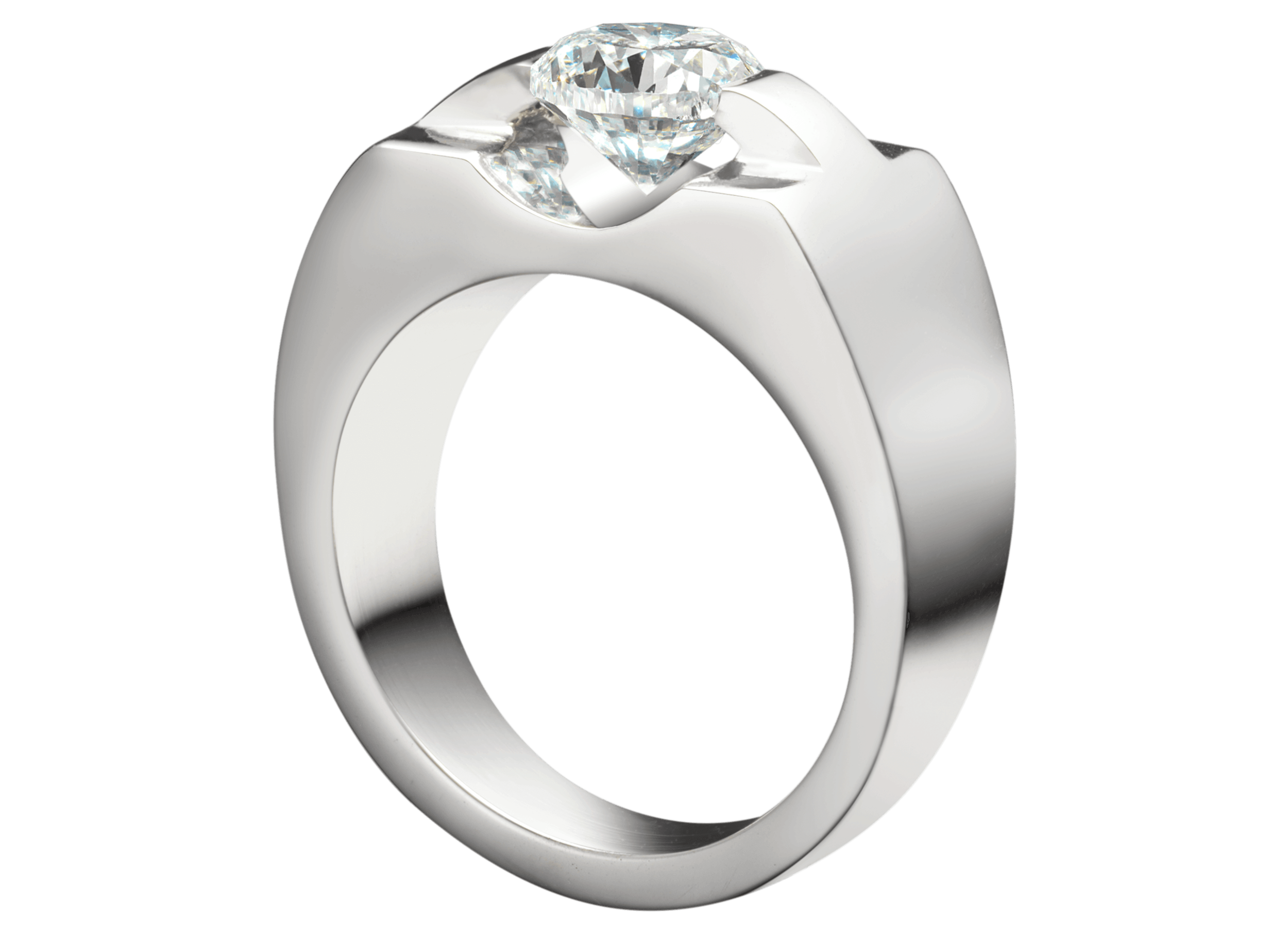 Bague Eolia section carrée or blanc et diamant.png