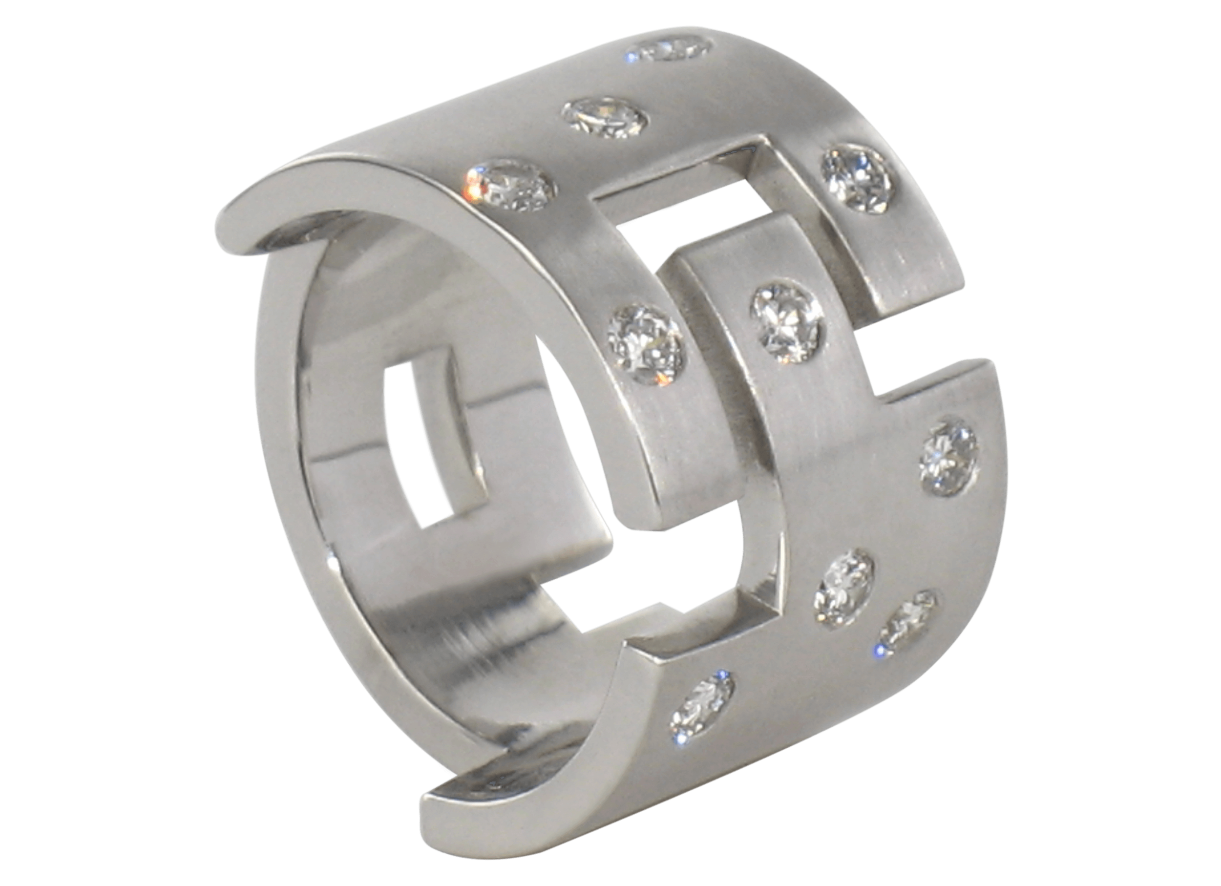 Bague Malevitch or blanc brossé et diamants 1.png
