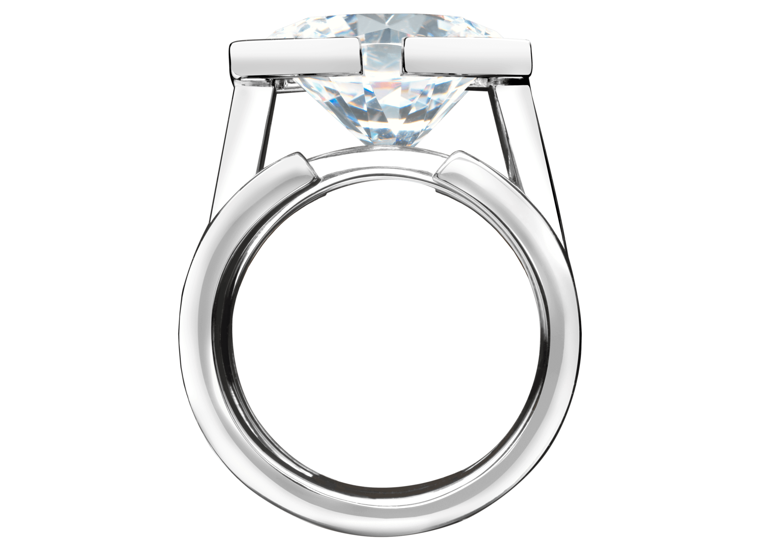 Bague Saint-Louis or blanc et diamant 5,48 carats face.png