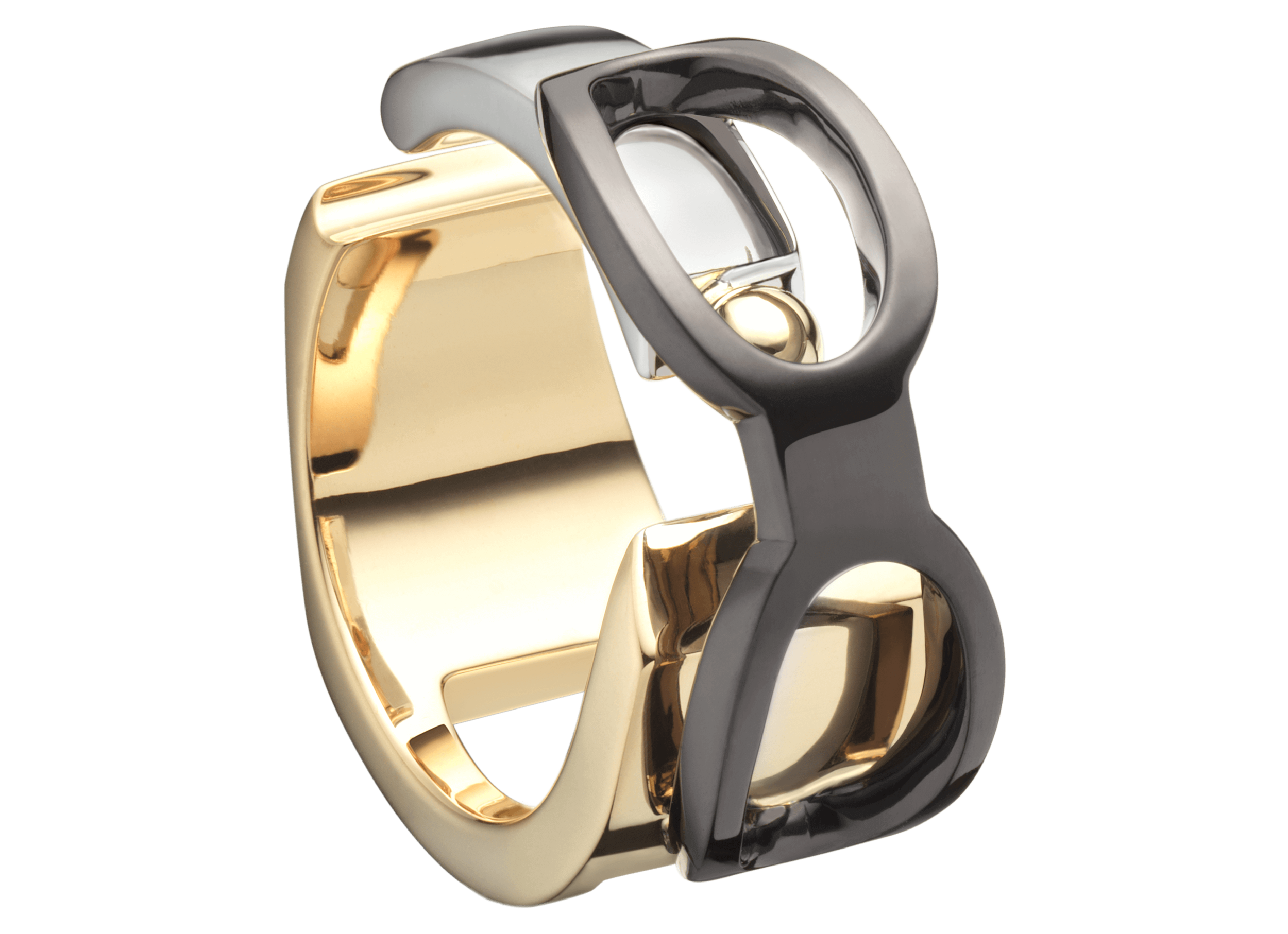 Bague Chillida or rose blanc jaune noir saphir orange p'ti d'hom.png