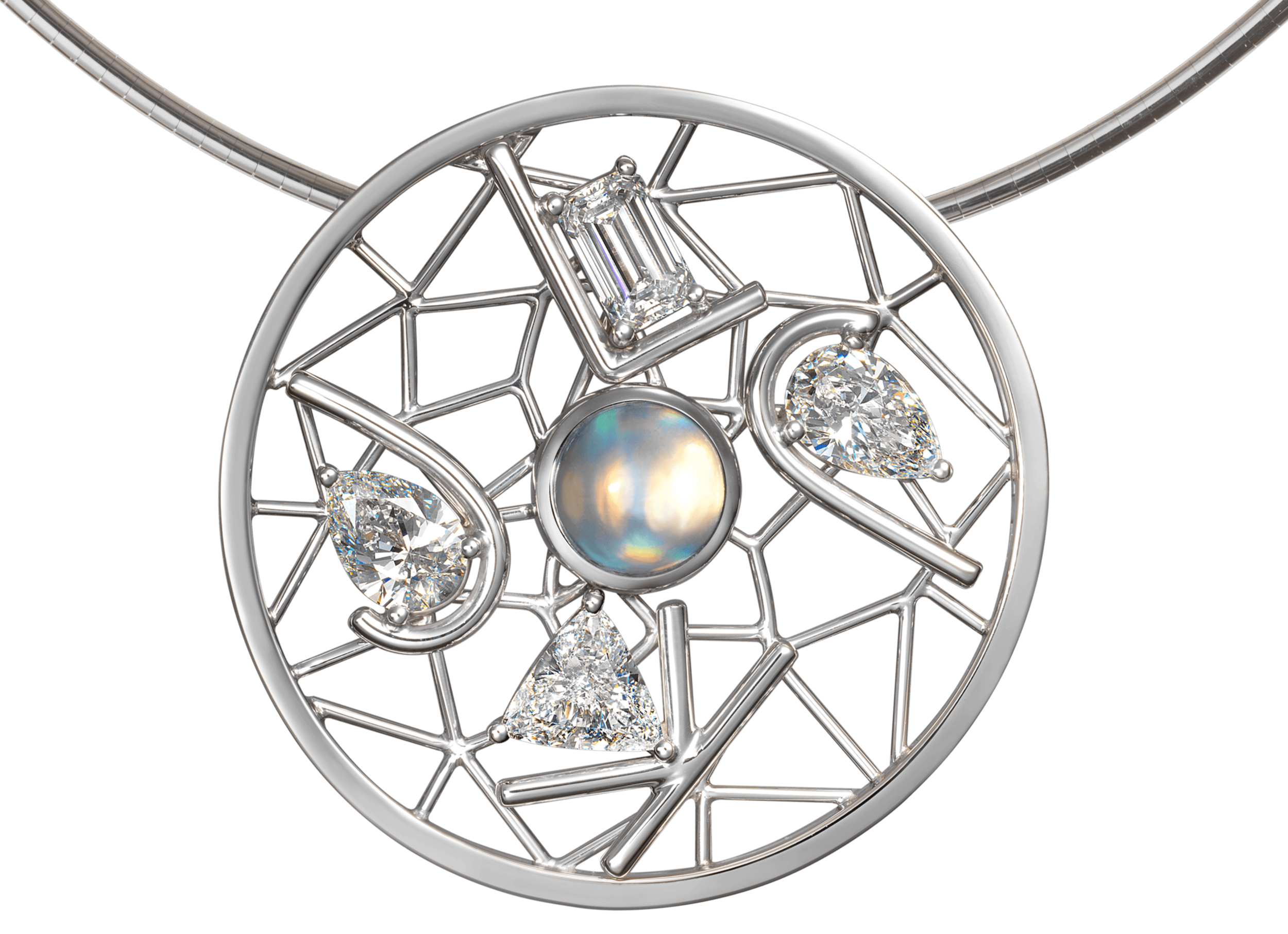 Pendentif Dreamcatcher or blanc diamants et Labradorite.png