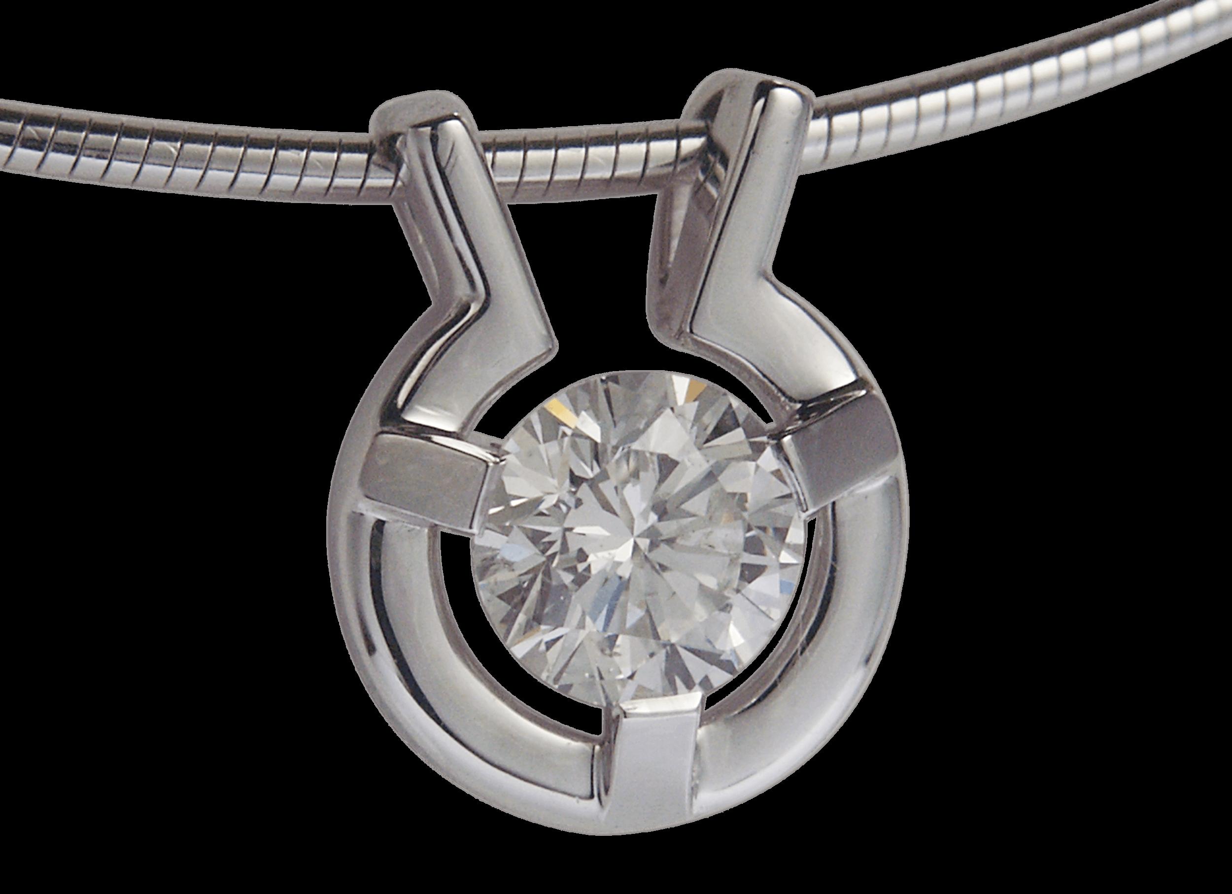 Pendentif Stéfa or blanc & diamant.png