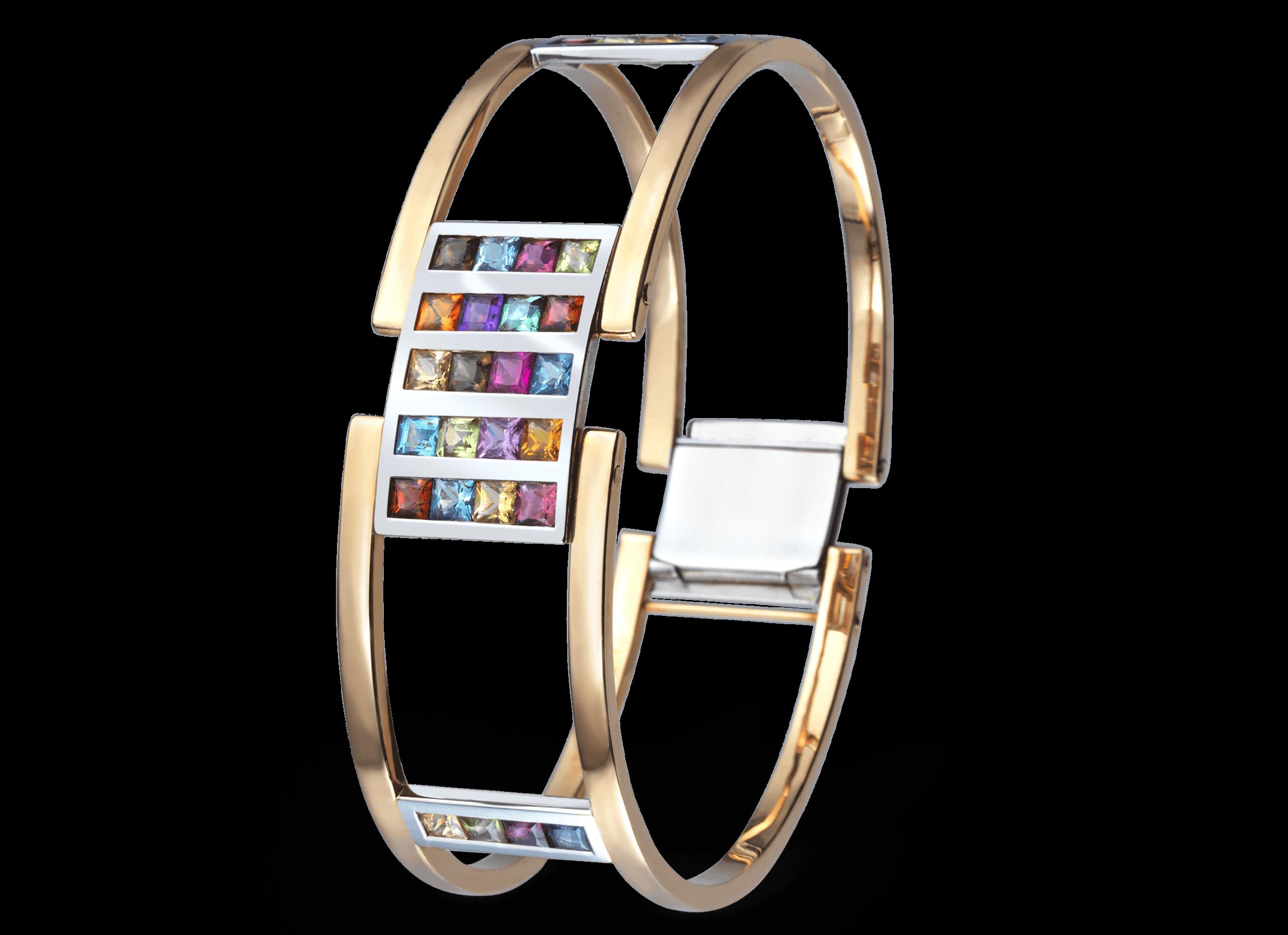 Bracelet Venise or rouge et blanc patchwork.png