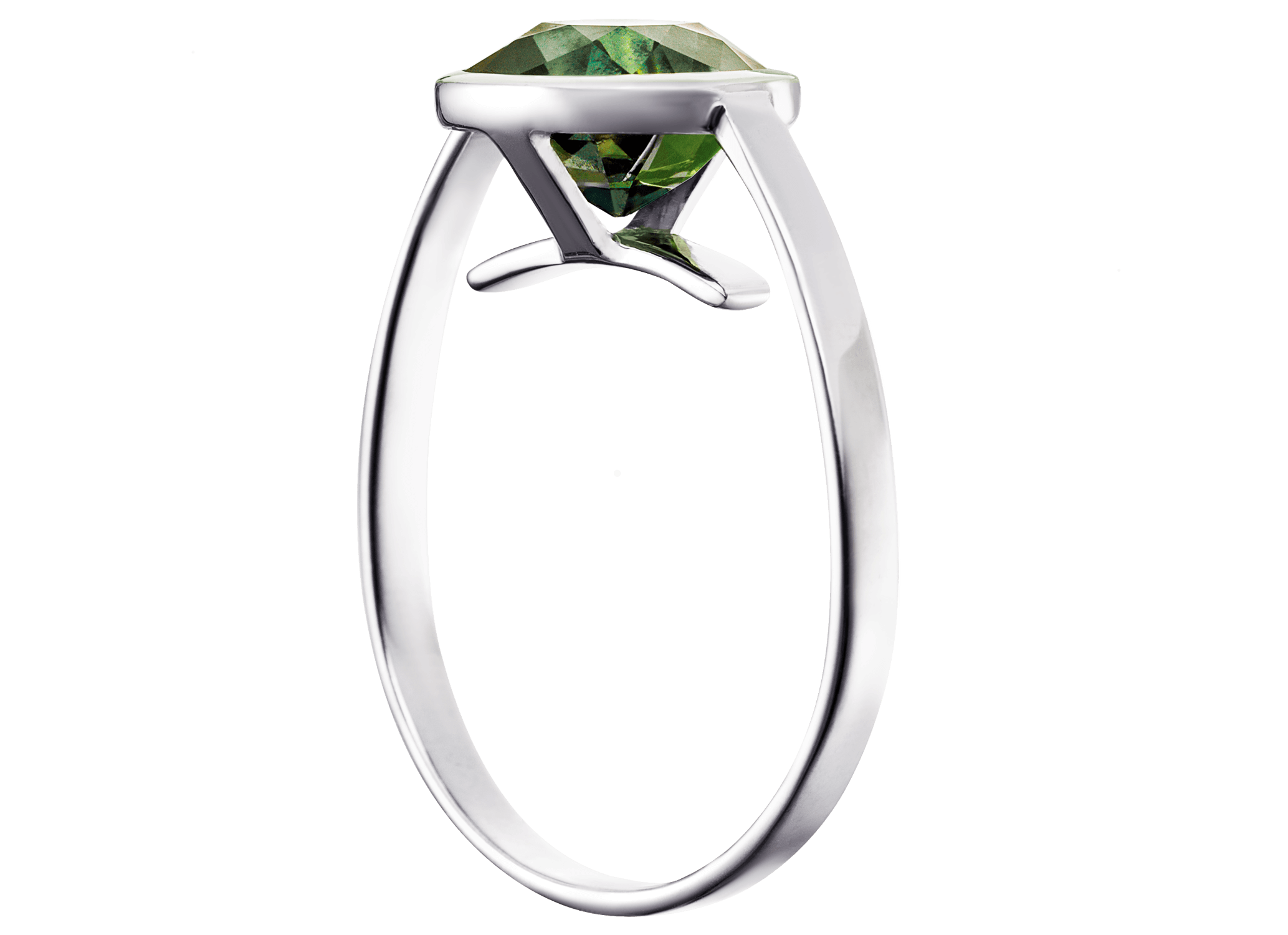 Bague Cha or blanc et Saphir vert coussin 3,01 carats perspective PNG web.png