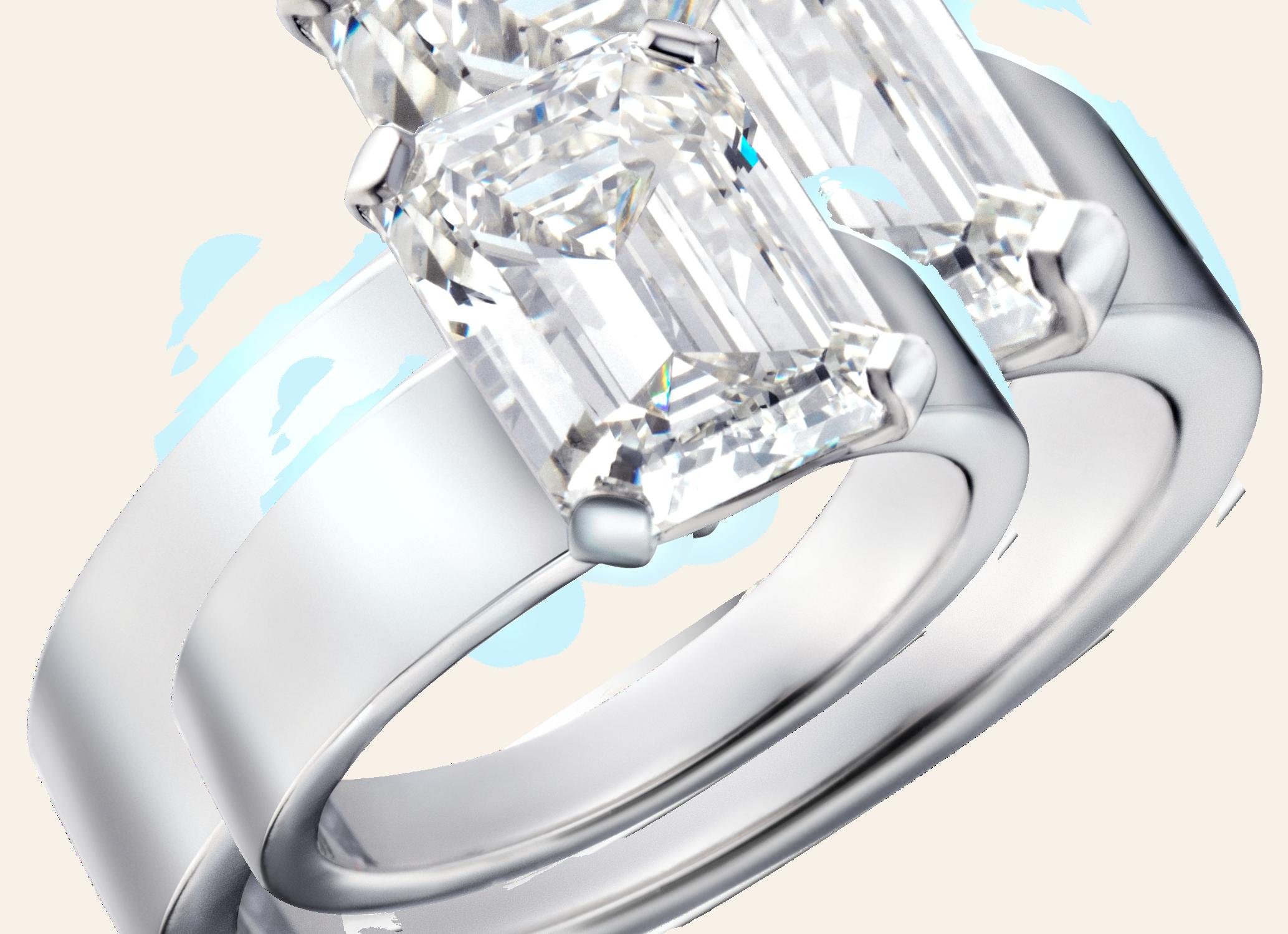 Bague or blanc et diamant taille Émeraude 5,30 carats PNG recadré.png