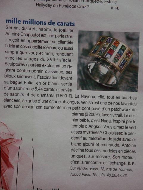 2002 Figaro Madame - 21 Dec. 2002 - article..JPG