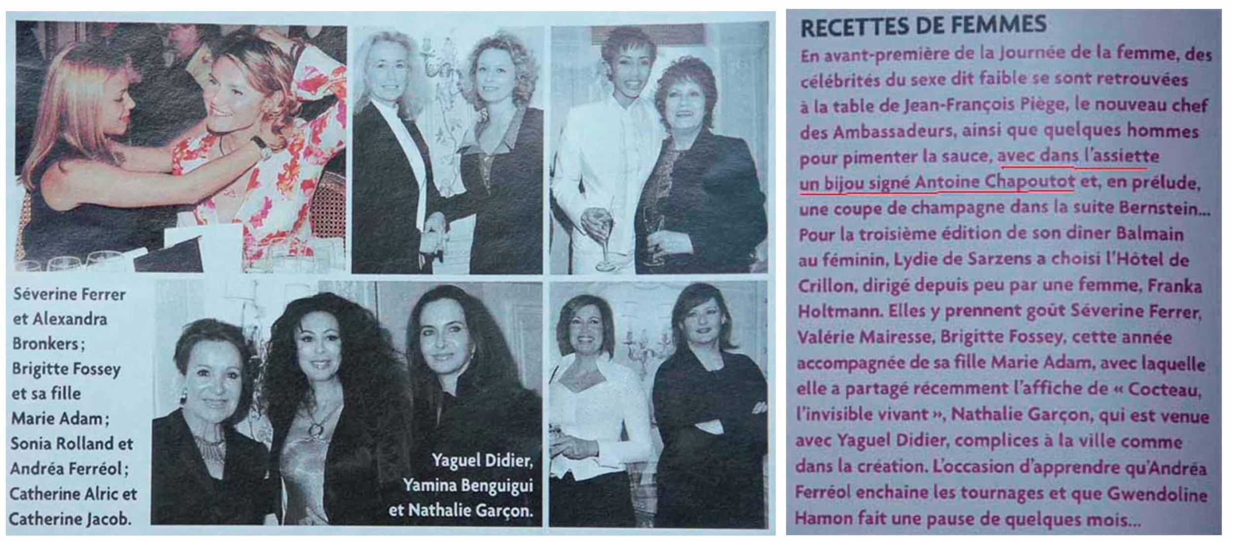 2004 Madame Figaro - 1er Mars - Article & photo.jpg