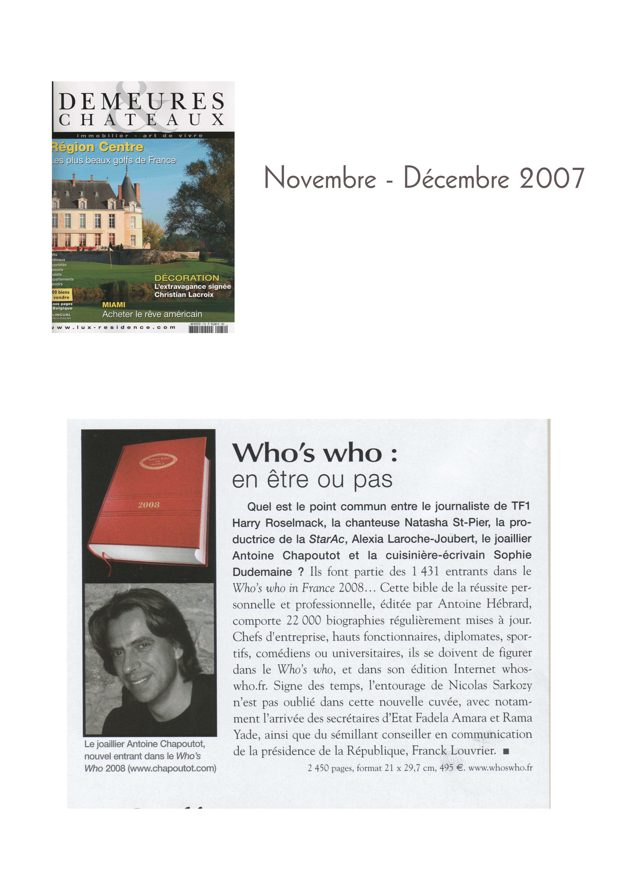 2007 Demeure & Chateaux - Novembre 2007.jpg