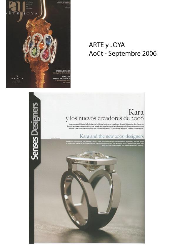 2006 ARTEyJOYA Août-Sept 2006.jpg