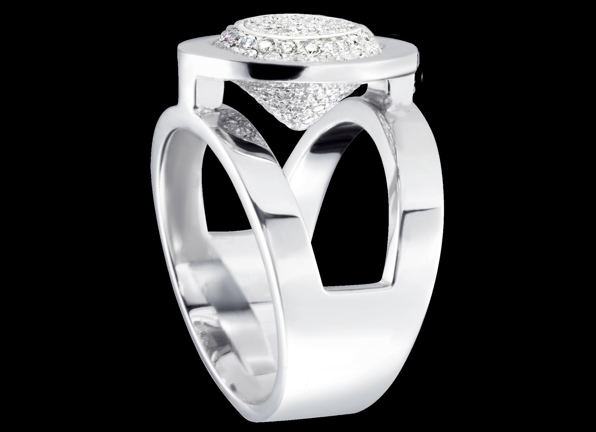Bague Mamona - Or blanc et pavage 125 diamants 0,65 carat4 900 €