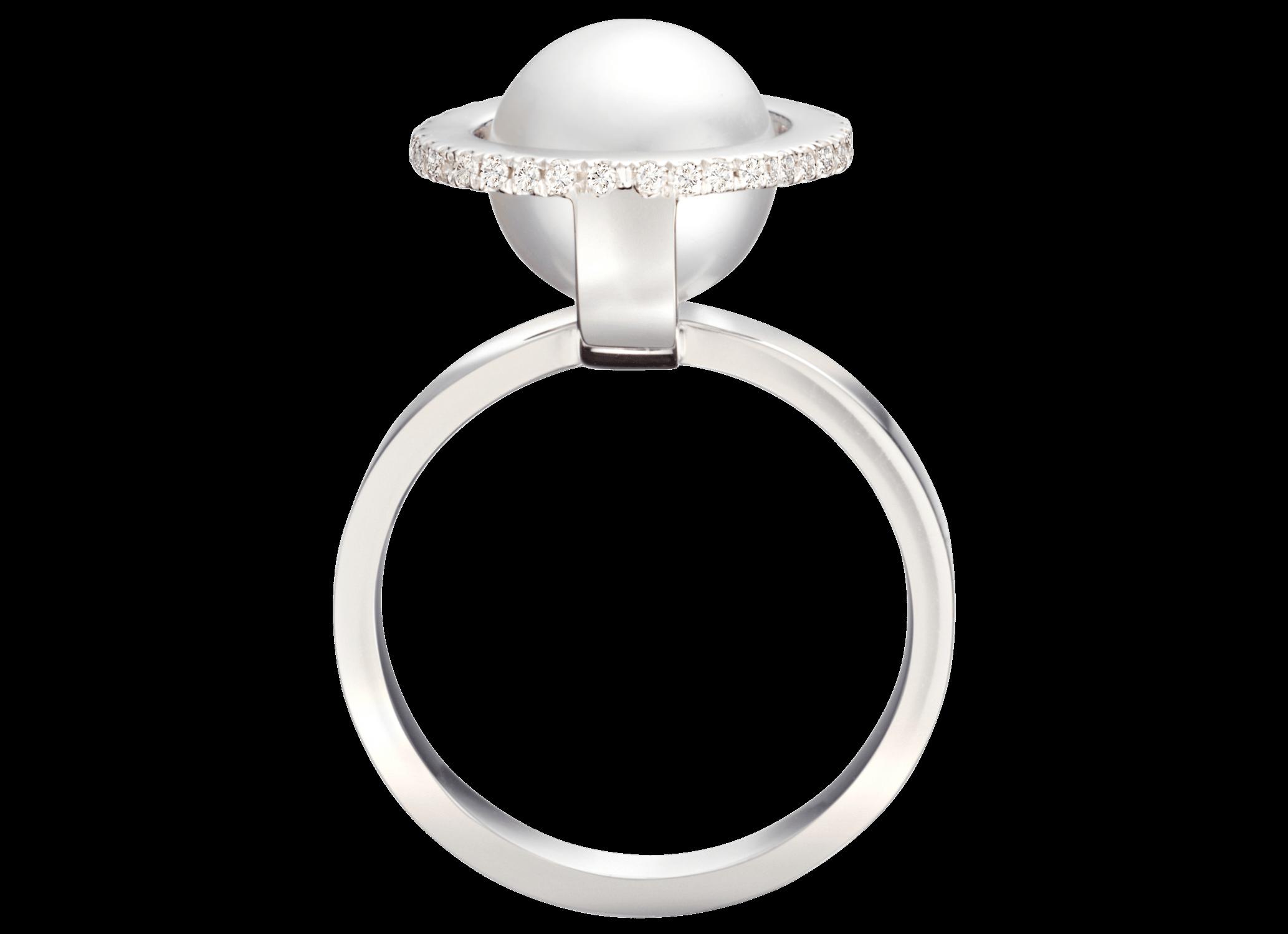 Bague Héstia - Or blanc, perle des mers du sud Ø 9mm & diamants 0,26 carat2 500 €